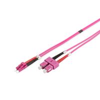 Digitus Câble de brassage multimode à fibre optique, OM4, LC / SC Câble de fibre optique - Violet