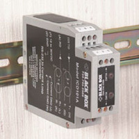 Black Box RS-232 to Current Loop DIN Rail Converter with Opto-Isolation Seriële .....