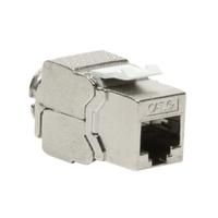 LogiLink Keystone Jack RJ45 Cat.6A 10G Fully Shielded 180° tool free slim type Prises de courant - Argent