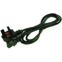 2-Power IEC C13 Lead with UK Plug Electriciteitssnoer - Zwart