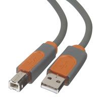 Belkin USB A/B DEVICE CABLE. A/B:DSTP: 3M USB kabel - Grijs