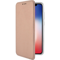 Azuri Bookletcase met magnetische sluiting - goud roze - voor iPhone X/Xs