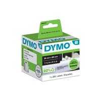 DYMO Large Address Labels 89x36 mm, 130 Labels Etiket - Wit