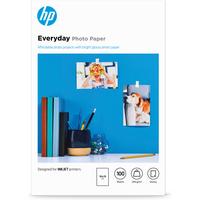 HP brillant Everyday - 100 feuilles, 10 x 15 mm Papier photo - Blanc