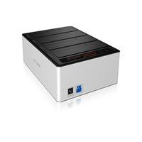 ICY BOX IB-141CL-U3 HDD/SSD stations d'accueil - Aluminium, Noir