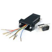 StarTech.com Adapteur Modulaire DB9 Mâle vers RJ45 Femelle Noir - DB9 à RJ45 M/F Adaptateur de câble