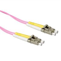 ACT 7m LSZHmultimode 50/125 OM4 glasvezel patchkabel duplexmet LC connectoren Fiber optic kabel - Grijs,Violet