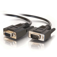 C2G 5 m DB9 RS232 M/F verlengkabel - zwart Seriële kabel