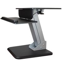 StarTech.com Zit sta bureau ergonomische werkplek Multimedia karren & stands - Zwart, zilver