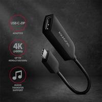 Axagon RVC-DP USB-C > DP adapter - Zwart