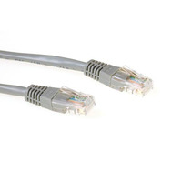 ACT Cat5e UTP, RJ-45, 50µ goud, 1.0m, Grijs Netwerkkabel