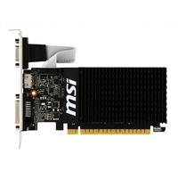 MSI NVIDIA GeForce GT 710, PCI Express 2.0, 1GB DDR3 64-bit, 19W, VGA, 1x HDMI, 1x DL-DVI-D Videokaart - Zwart