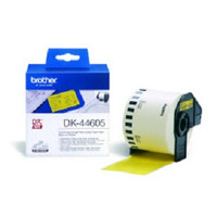 Brother DK-44605 Continuous Removable Yellow Paper Tape (62mm) Etiket - Geel