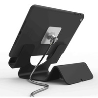 Compulocks Universal Tablet Holder with Keyed Cable Lock - Black Supports - Noir