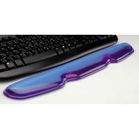 ROLINE Repose poignets pour clavier, silicone, bleu transparent Support de poignet