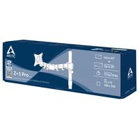 ARCTIC Z+1 Pro Gen 3 Support d'écran - Noir,Acier satin