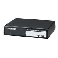 Black Box Hub USB 2-4-8 ports série Adaptateur Interface - Noir
