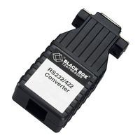 Black Box Async RS232 to RS422 Converter Mini Seriële coverters/repeaters/isolatoren - Zwart