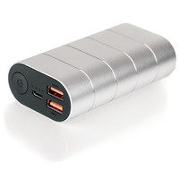 Verbatim Power Bank Quick Charge 3.0 & USB-C, 10000 mAh, Silver/Metal - Argent