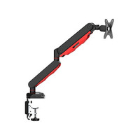 Iiyama Gas spring desk mount for gaming monitor Monitorarm - Zwart,Rood