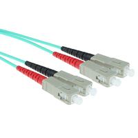 ACT 1,5m LSZHmultimode 50/125 OM3 glasvezel patchkabel duplexmet SC connectoren Fiber optic kabel - Blauw