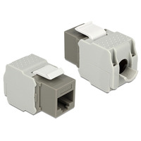 DeLOCK RJ45 female - LSA Cat.6 UTP grey - Grijs