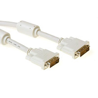 ACT DVI-I Dual Link connection cable, M -M, Ivory 2.0m