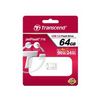 Transcend JetFlash 710S 64GB Clé USB - Argent