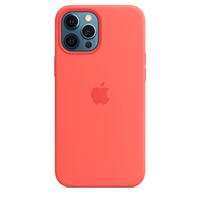 Apple Coque en silicone avec MagSafe pour iPhone 12 Pro Max - Rose agrume