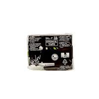 Brother STE-151 Labelprinter tape - Zwart
