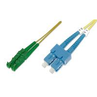 ASSMANN Electronic E2000-SC, 1m Câble de fibre optique - Vert,Jaune