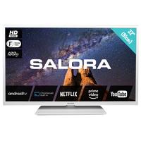 "Salora MILKYWAY 32"" (81CM) witte HD Android tv met bluetooth, DVB-/T2/C, 100HZ BPR en WIFI Led-tv"