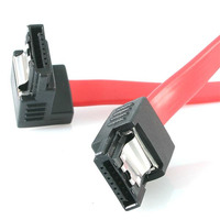 """StarTech.com 12"""" latching sata cable - 1 Right Angle M/M ATA kabel - Rood"""