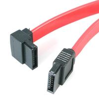 StarTech.com 30cm SATA naar Haakse Snaar Links ATA kabel - Rood