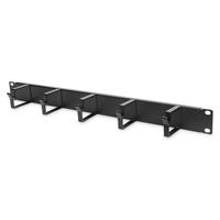Digitus 1U cable management panel 5x cable rings 40x60 mm, color black (RAL 9005) Kabelklem - Zwart
