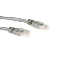ACT Grijze 1 meter UTP CAT6 patchkabel met RJ45 connectoren Netwerkkabel - Grijs