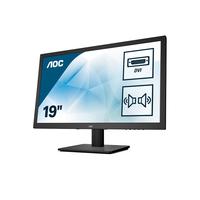 """AOC 18.5"""", 5ms, 1366 x 768, 16:9, WXGA, TN, 250cd/m² Monitor - Zwart"""
