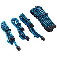 Corsair Premium Individually Sleeved PSU Cables Starter Kit Type 4 Gen 4, Blue/Black - Noir,Bleu