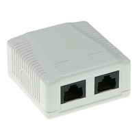 ACT Surface mounted box unshielded 2 ports CAT5E Boitier de prise de courant - Blanc