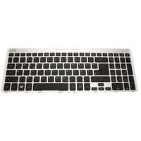 Acer KEYBD.GER.104K.BLK.W/SIL.FRAME Composants de notebook supplémentaires - Noir, Argent