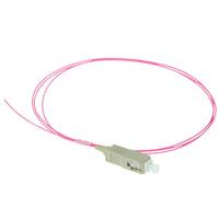 ACT SC 50/125µm OM4 pigtail Fiber optic kabel - Violet