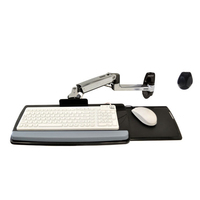 Ergotron Série LX Wall Mount Keyboard Arm Supports - Argent