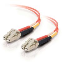 C2G 2m LC/LC LSZH Duplex 50/125 Multimode Fibre Patch Cable Fiber optic kabel - Oranje