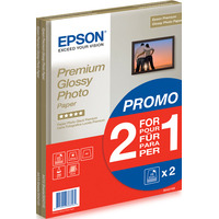 Epson Premium Glossy Photo Paper - A4 - 2x 15 Vellen Fotopapier