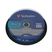 Verbatim BD-R DL 50GB 6x 10 Pack Spindle Disques vierges Blu-Ray