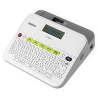 Brother PT-D400 - , TZe, 3.5-18mm, 20 mm / sec, 180 dpi, 730g - QWERTY Imprimante d'étiquette - Gris, Blanc
