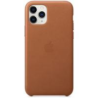 Apple Coque en cuir pour iPhone 11 Pro Havane - Marron