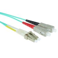 ACT 5m LSZHmultimode 50/125 OM3 glasvezel patchkabel duplexmet LC en SC connectoren Fiber optic kabel - Blauw