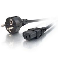 C2G européen AWG 16 (IEC320C13 à CEE7/7) de 3M Cordon d'alimentation - Noir