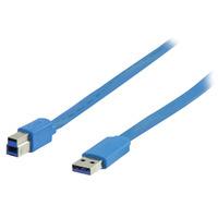 Valueline 2m, USB 3.0 A - B USB kabel - Blauw